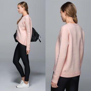 Lululemon Yogi Crew Sweater Hearts Parfait/White